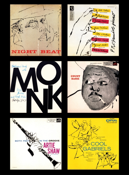 Andy Warhol Jazz Covers 1952-56
